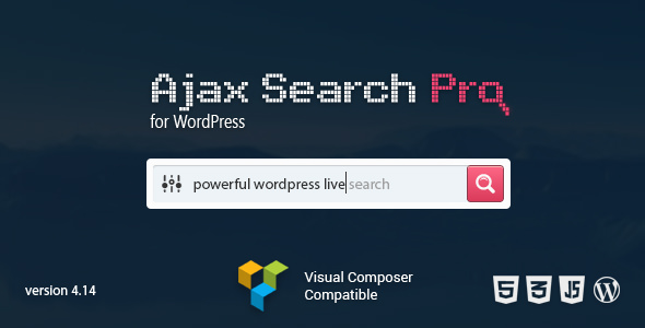 Ajax Search Pro v4.14 - живой поиск на Ajax для WordPress