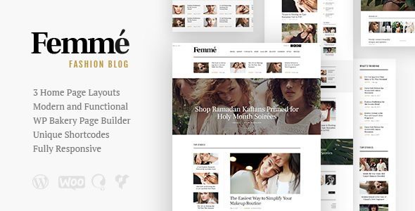 Femme v1.1 - адаптивная тема WordPress для блогов и онлайн-журналов