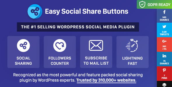 Плагин Easy Social Share Buttons for WordPress v6.0