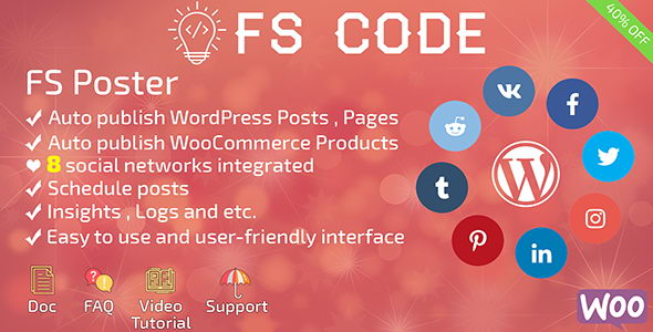 FS Poster v1.9 - автопостинг записей WordPress в социальные сети