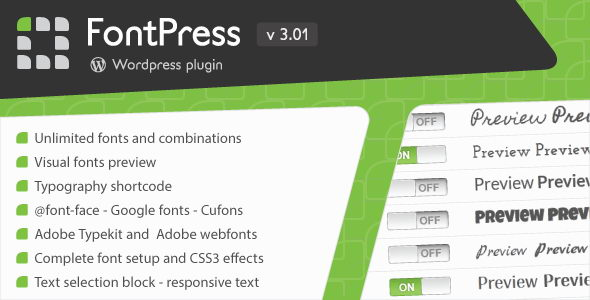 FontPress v3.01 - менеджер шрифтов для WordPress