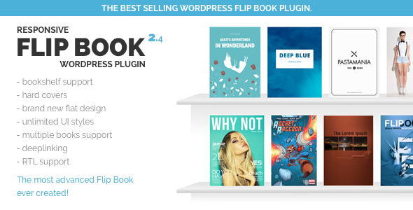 Responsive FlipBook WordPress Plugin v2.4.4 - адаптивный флипбук-плагин для WordPress