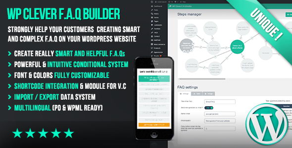 WP Clever FAQ Builder v1.36 - конструктор раздела FAQ для WordPress