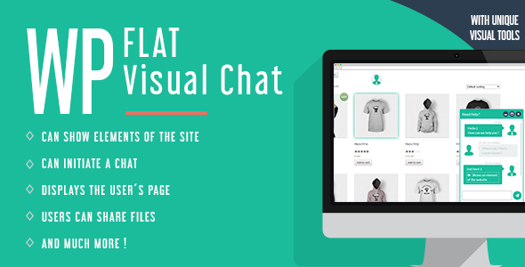 WP Flat Visual Chat v5.383 - онлайн-чат для WordPress